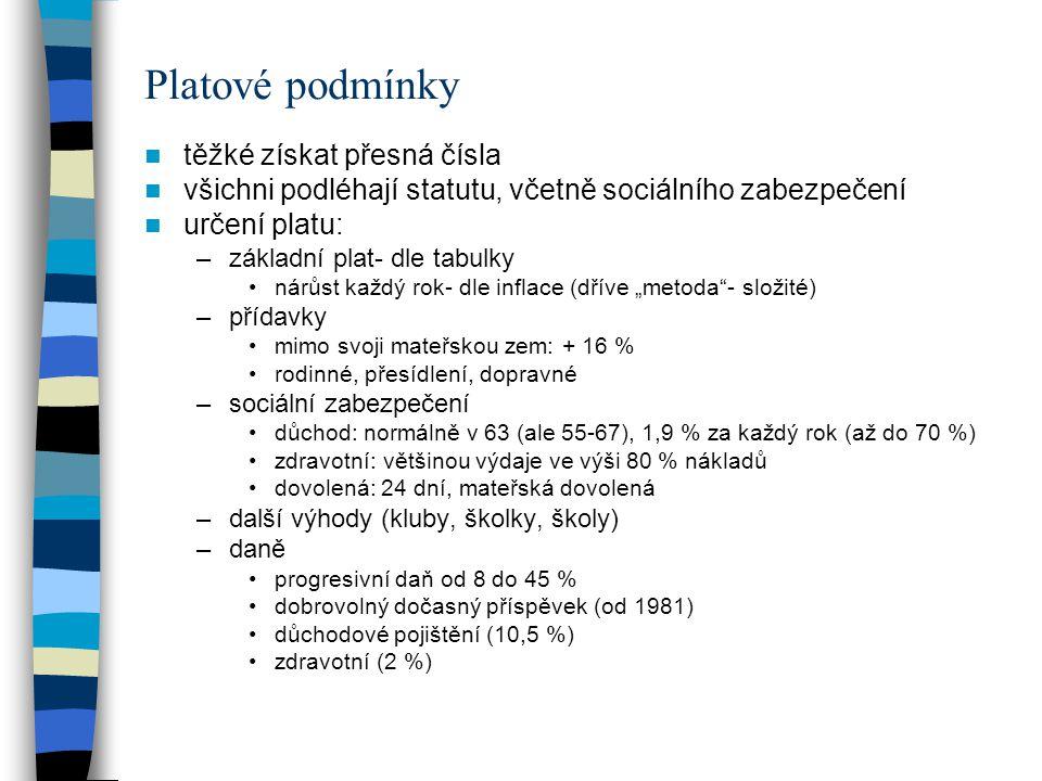 Platové podmínky rozdělení kategorií –administrátor: 5-16 (nástup 5-8) –asistent: 1-11 (nástup 1-4) –třídy ve dvouletých intervalech