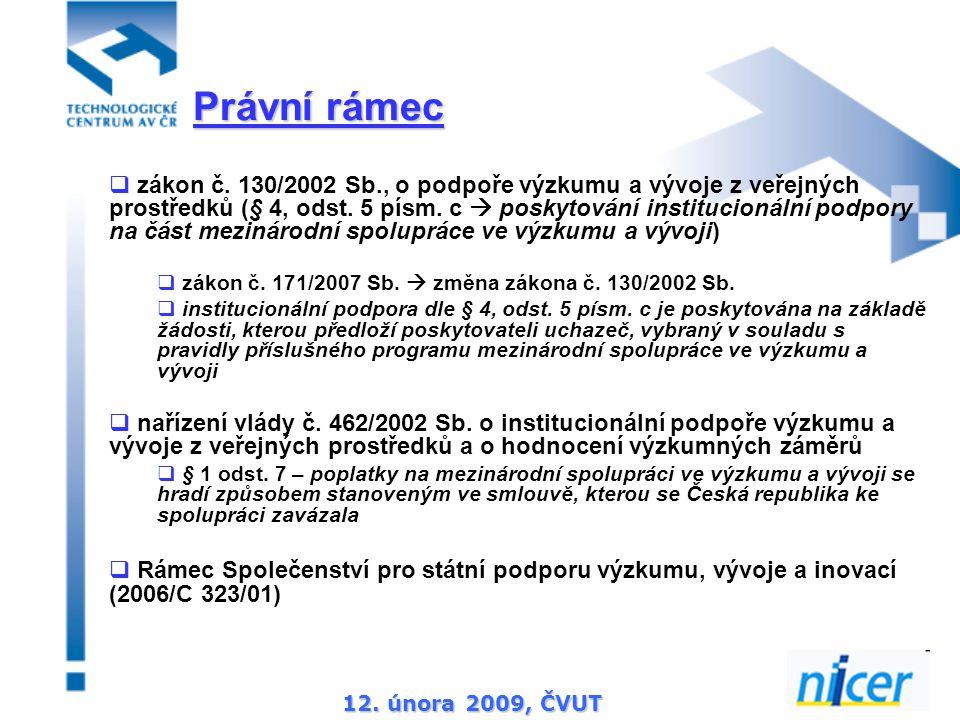 12. února 2009, ČVUT  zákon č.