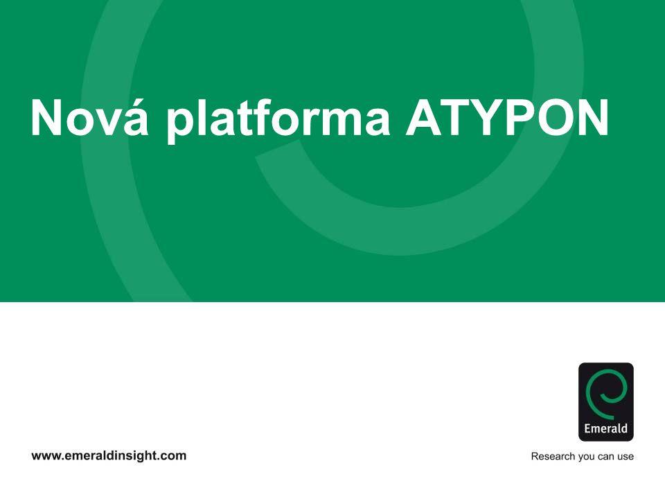Nová platforma ATYPON