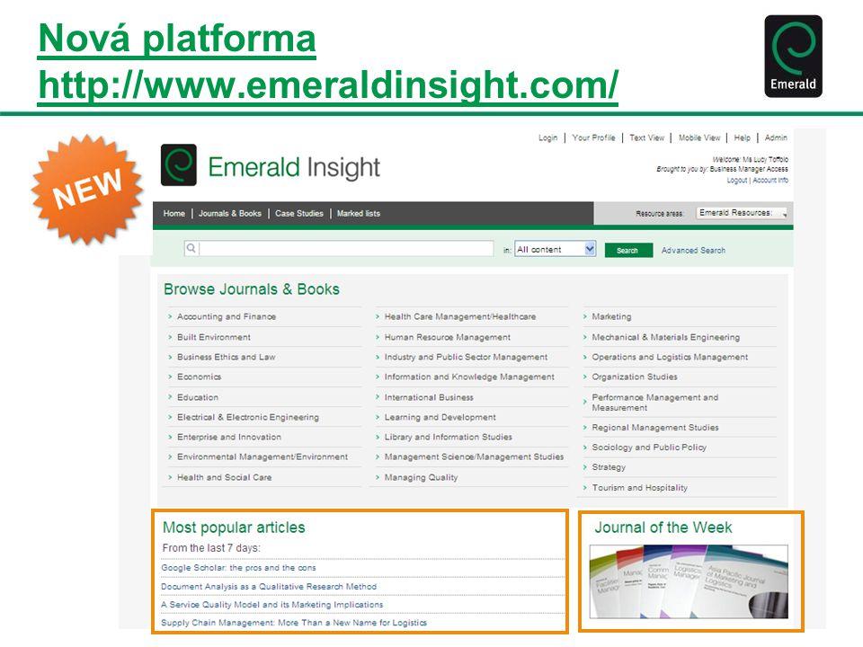 Nová platforma http://www.emeraldinsight.com/