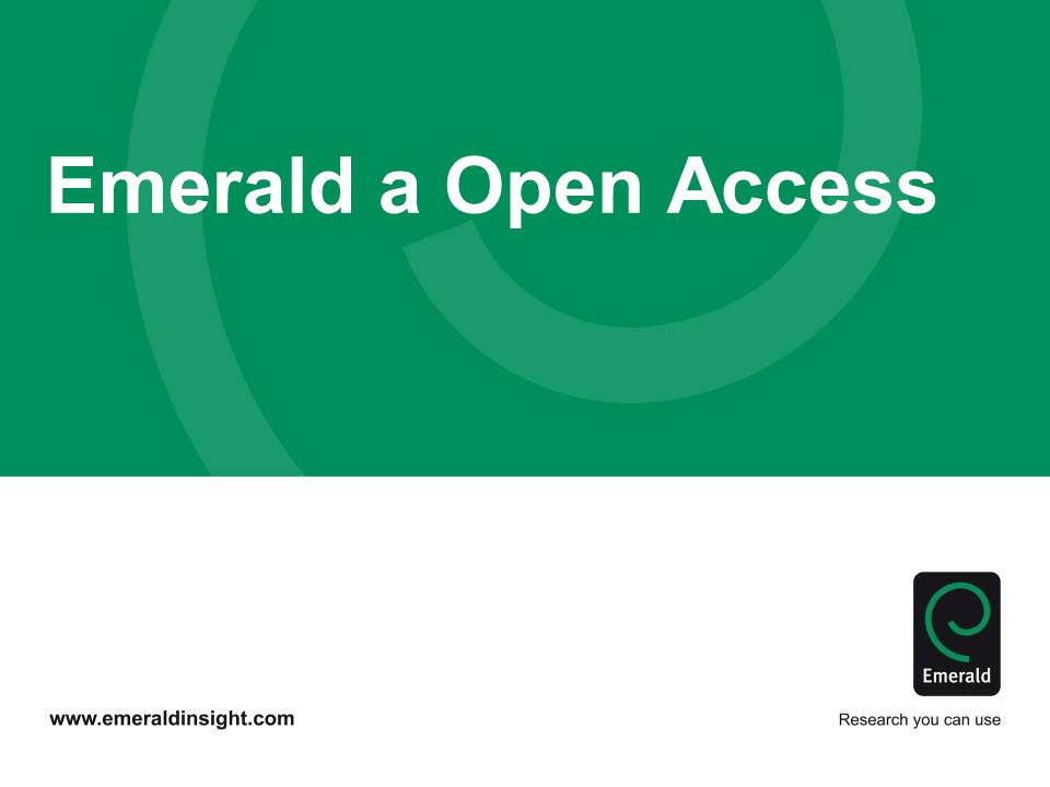 Emerald a Open Access