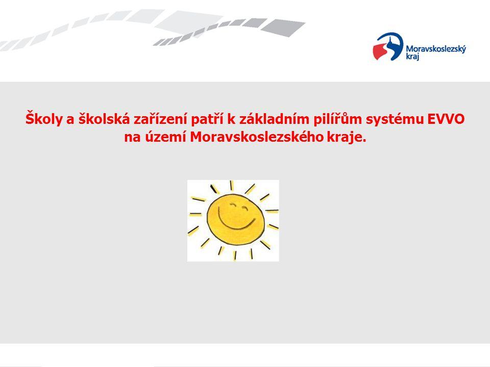 EVVO v Moravskoslezském kraji Školy a školská zařízení patří k základním pilířům systému EVVO na území Moravskoslezského kraje.