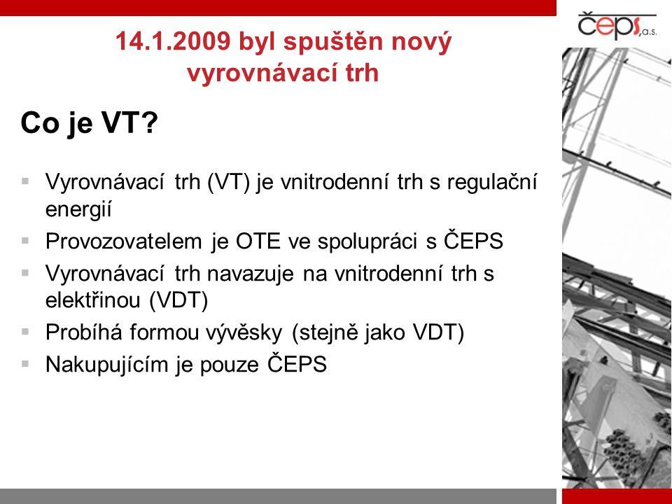 Co je VT?  Vyrovnávací trh (VT) je vnitrodenní trh s regulační energií  Provozovatelem je OTE ve spolupráci s ČEPS  Vyrovnávací trh navazuje na vni