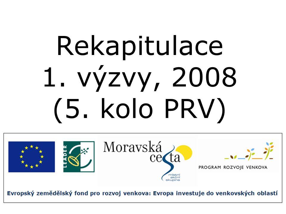 Rekapitulace 1. výzvy, 2008 (5. kolo PRV)
