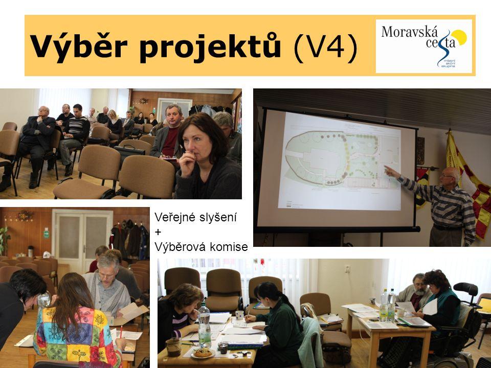 Výběr projektů (V4) Veřejné slyšení + Výběrová komise
