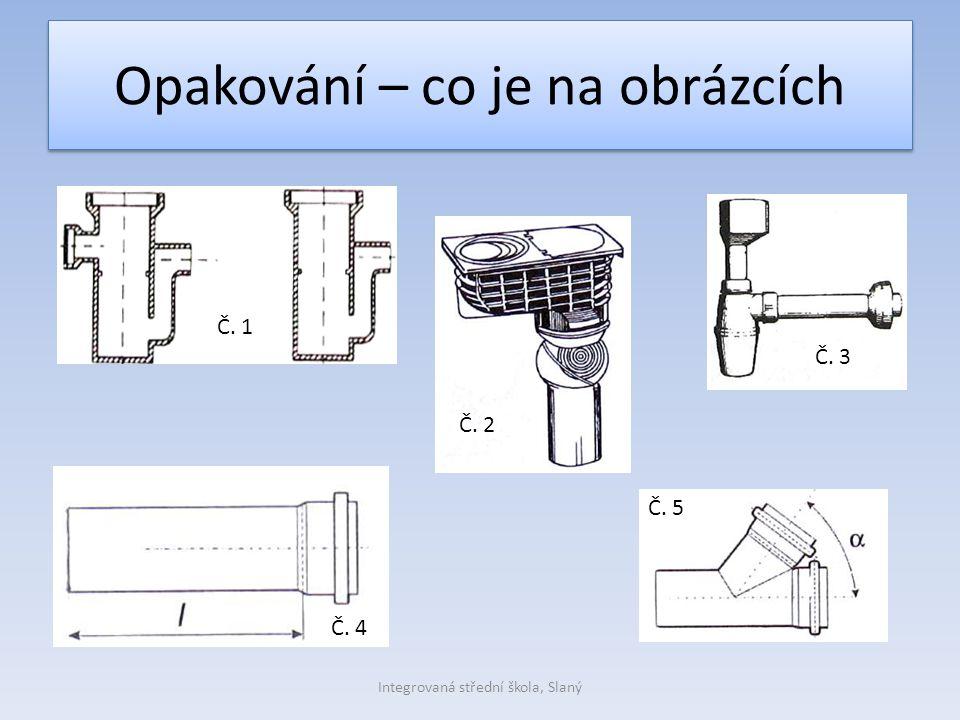Opakování – co je na obrázcích Integrovaná střední škola, Slaný Č. 1 Č. 2 Č. 3 Č. 4 Č. 5