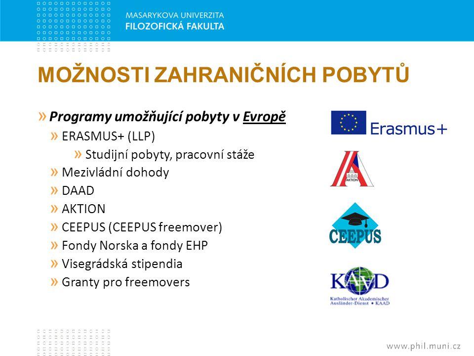 MOŽNOSTI ZAHRANIČNÍCH POBYTŮ » Programy umožňující pobyty v Evropě » ERASMUS+ (LLP) » Studijní pobyty, pracovní stáže » Mezivládní dohody » DAAD » AKT