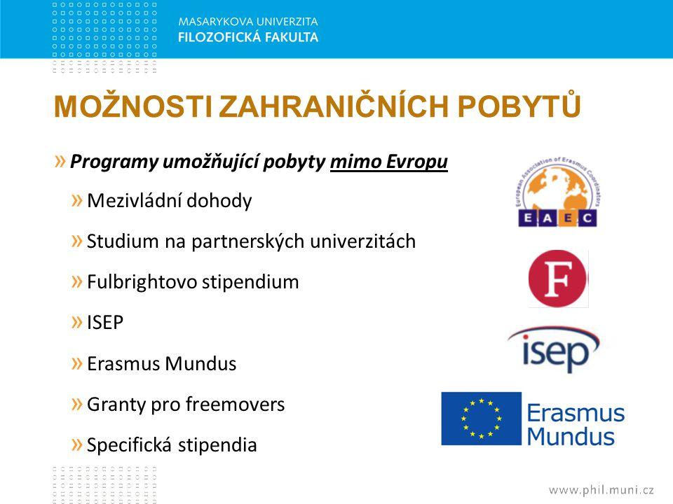 MOŽNOSTI ZAHRANIČNÍCH POBYTŮ » Programy umožňující pobyty mimo Evropu » Mezivládní dohody » Studium na partnerských univerzitách » Fulbrightovo stipen