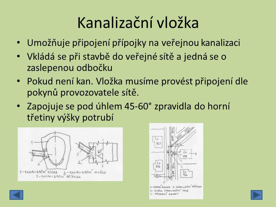 Připojovací potrubí ‐Vede od zařizovacího předmětu k svislému odpadnímu potrubí ‐Maximální délka připojovacího potrubí je 3m (pro připojovací potrubí WC Ø 110mm 1,5m) ‐Minimální sklon je 3% ‐Potrubí malých průměrů se vkládá do šikmých drážek ve zdivu nebo do instalační příčky ‐Každý zařizovací předmět je nutno připojit přes zápachovou uzávěrku