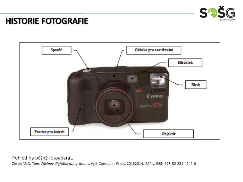 HISTORIE FOTOGRAFIE Pohled na běžný fotoaparát. Zdroj: ANG, Tom.