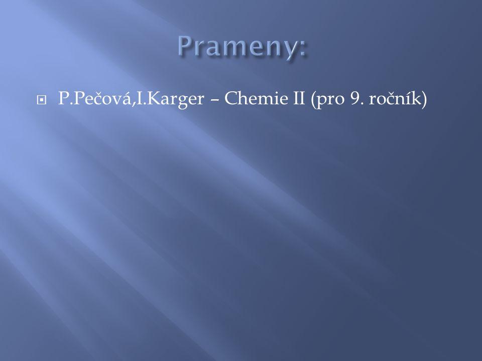  P.Pečová,I.Karger – Chemie II (pro 9. ročník)
