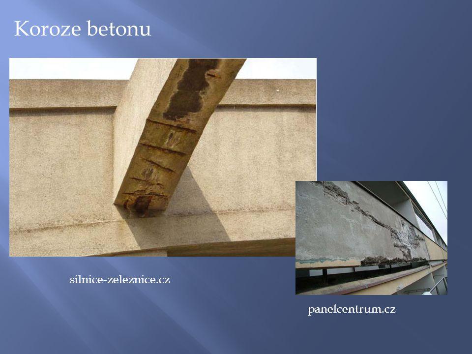 silnice-zeleznice.cz panelcentrum.cz Koroze betonu