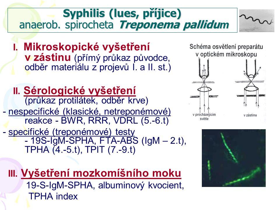 Syphilis primaria  primární afekt různého vzhledu na genitálu + jednostranná nebolestivá lymfadenitida v tříslech  v cca 5% případů primární afekt extragenitálně + jednostranná nebolestivá lymfadenitida ve spádové oblasti
