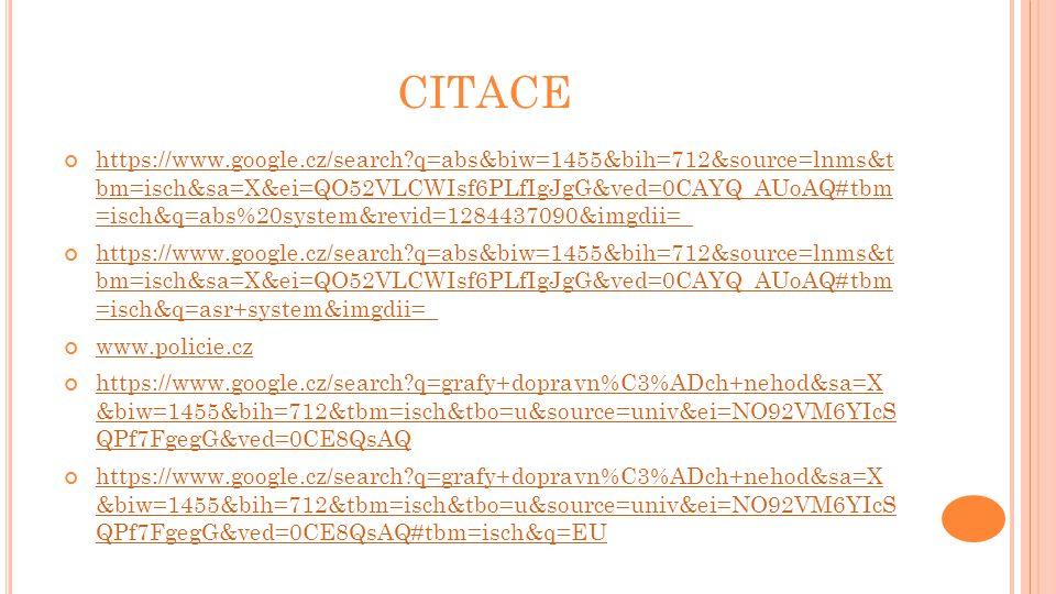 CITACE https://www.google.cz/search?q=abs&biw=1455&bih=712&source=lnms&t bm=isch&sa=X&ei=QO52VLCWIsf6PLfIgJgG&ved=0CAYQ_AUoAQ#tbm =isch&q=abs%20system