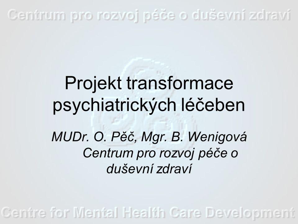 Projekt transformace psychiatrických léčeben MUDr.