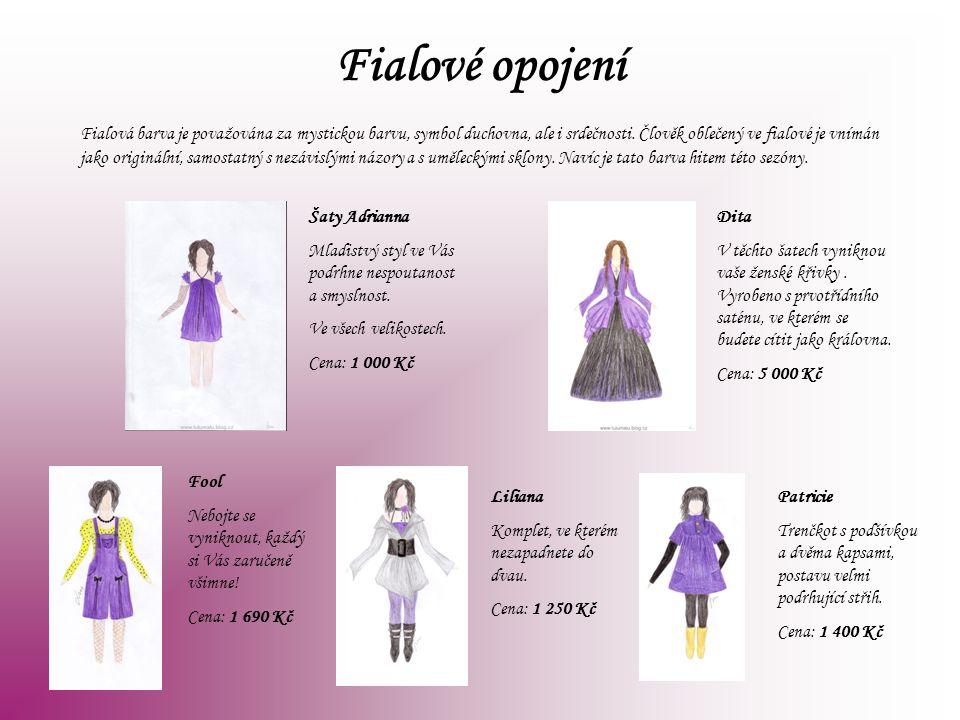 Fialové opojení Fialová barva je považována za mystickou barvu, symbol duchovna, ale i srdečnosti. Člověk oblečený ve fialové je vnímán jako origináln