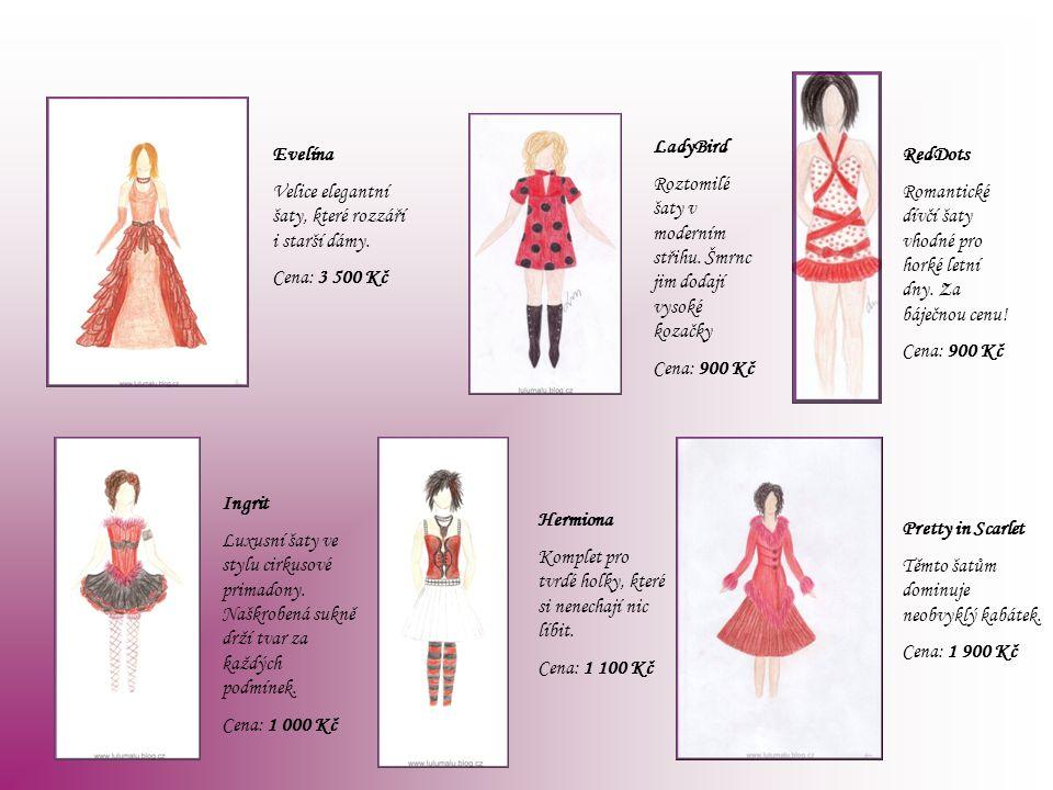 Evelína Velice elegantní šaty, které rozzáří i starší dámy. Cena: 3 500 Kč LadyBird Roztomilé šaty v moderním střihu. Šmrnc jim dodají vysoké kozačky