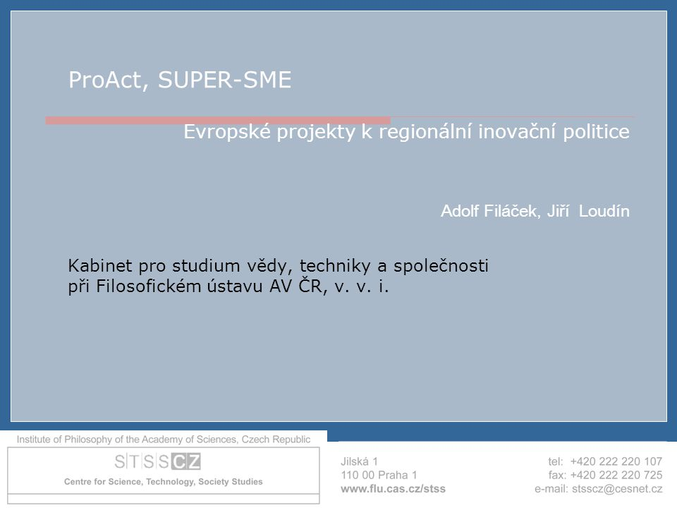 """AIP ČR - Brno - 19.4.2007 """"Strategické hodnocení Strategic Evaluation on Innovation and the knowledge based economy in relation to the Structural and Cohesion Funds, for the programming period 2007-2013, (2006), Synthesis Report, A report to The European Commission, Directorate-General Regional Policy, Evaluation and additionality, see: http://ec.europa.eu/regional_policy/sources/docgener/evalu ation/pdf/strategic_innov.pdf Strategic Evaluation on Innovation and the knowledge based economy in relation to the Structural and Cohesion Funds, for the programming period 2007-2013 (2006), Country Report: CZECH REPUBLIC, A report to The European Commission, Directorate-General Regional Policy, Evaluation and additionality, compiled by A."""