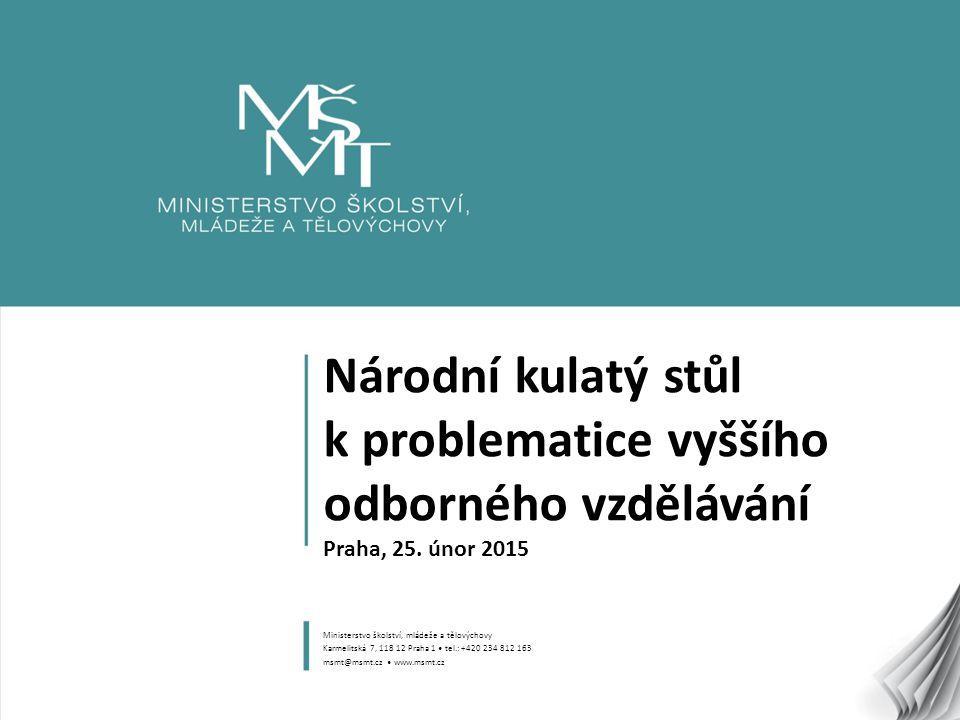 1 Národní kulatý stůl k problematice vyššího odborného vzdělávání Praha, 25.
