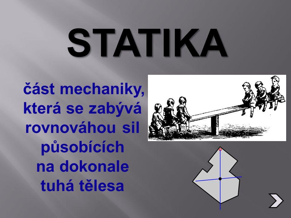 Základní veličina statiky.
