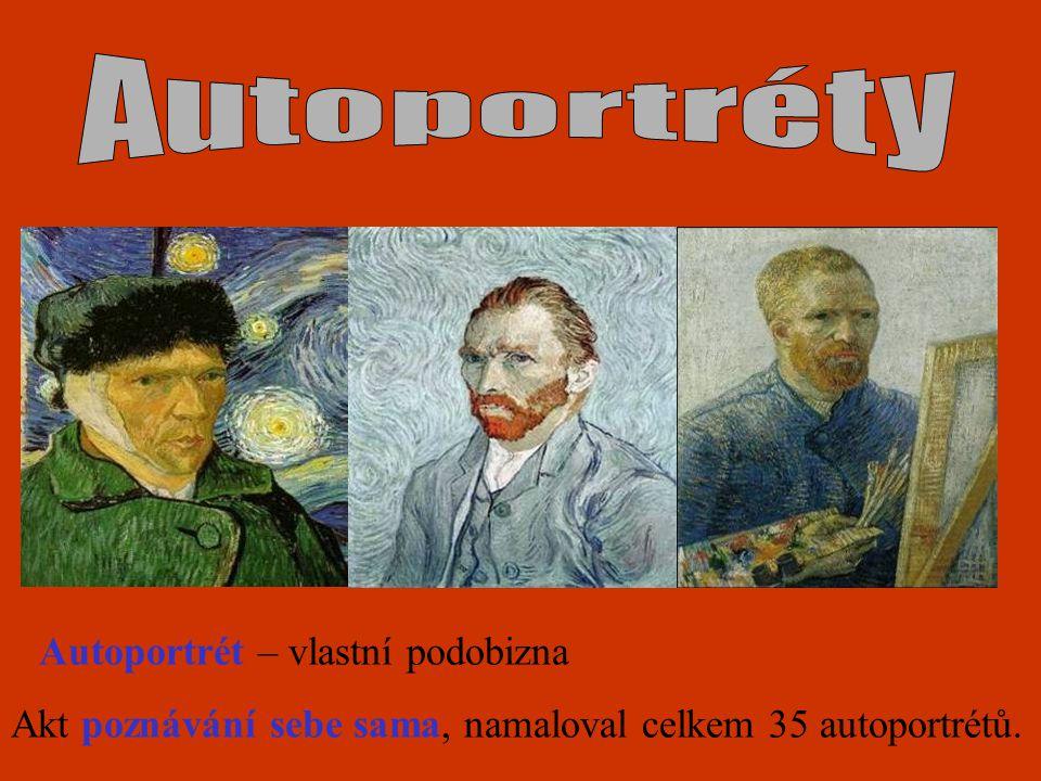 Autoportrét – vlastní podobizna Akt poznávání sebe sama, namaloval celkem 35 autoportrétů.
