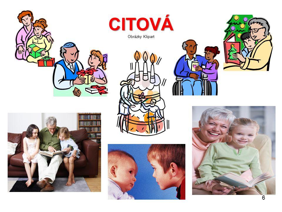 CITOVÁ CITOVÁ Obrázky Klipart 6