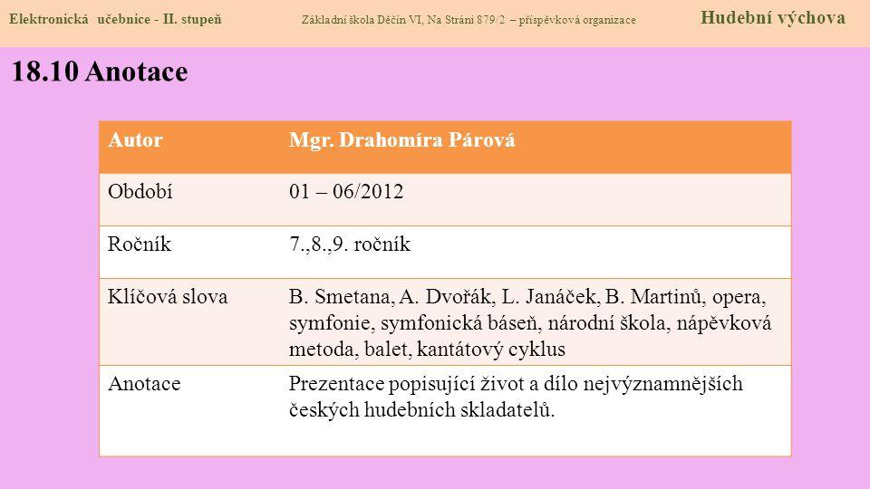 18.9 Použité zdroje, citace Elektronická učebnice - II.