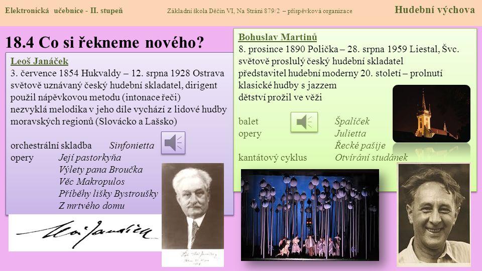 18.3 Jaké si řekneme nové termíny a názvy.Elektronická učebnice - II.