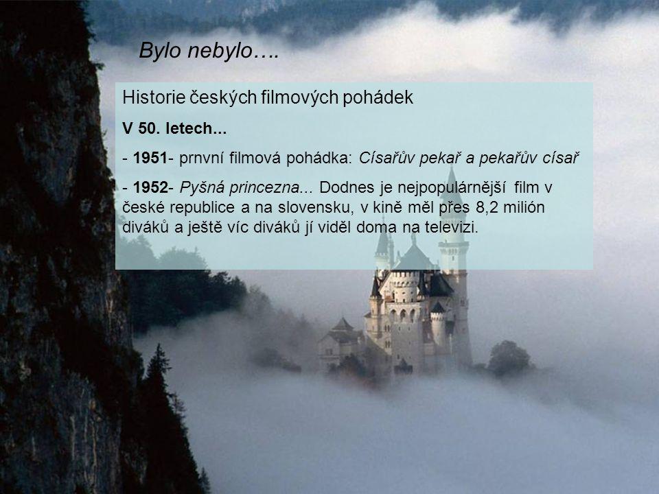 Bylo nebylo…. Historie českých filmových pohádek V 50.