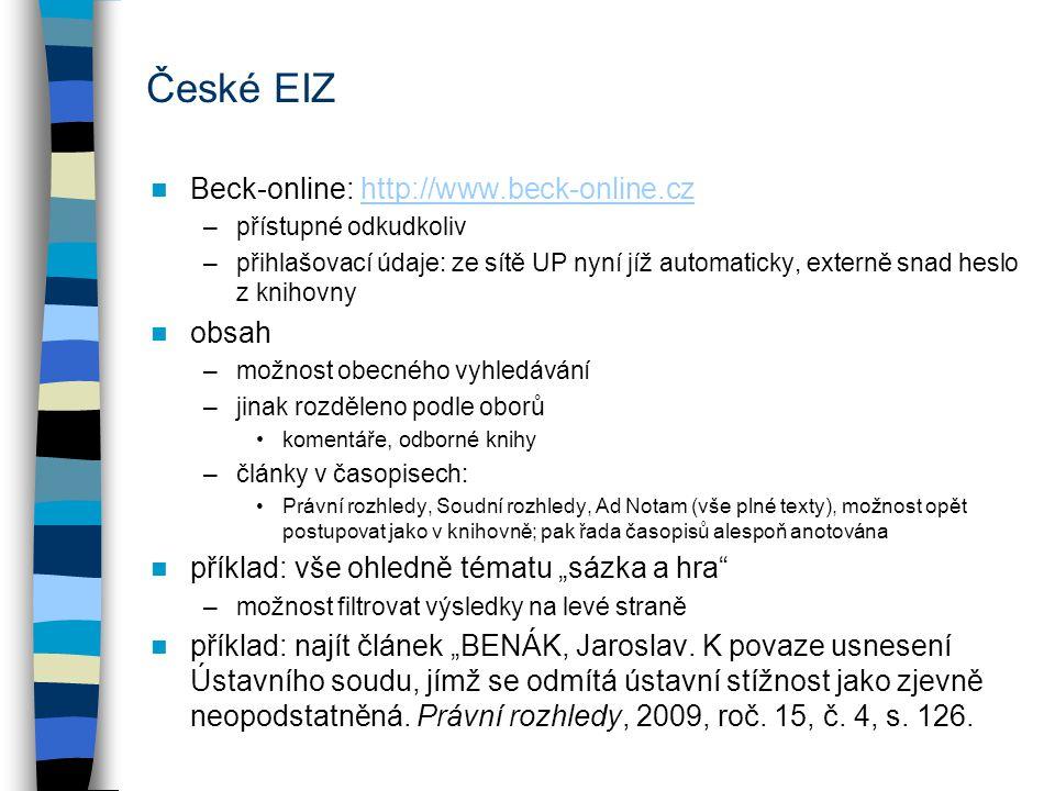 Anopress –informační databáze pokrývající hlavně zpravodajství v ČR (TV, časopisy, noviny) –možno číst po částech celé zdroje