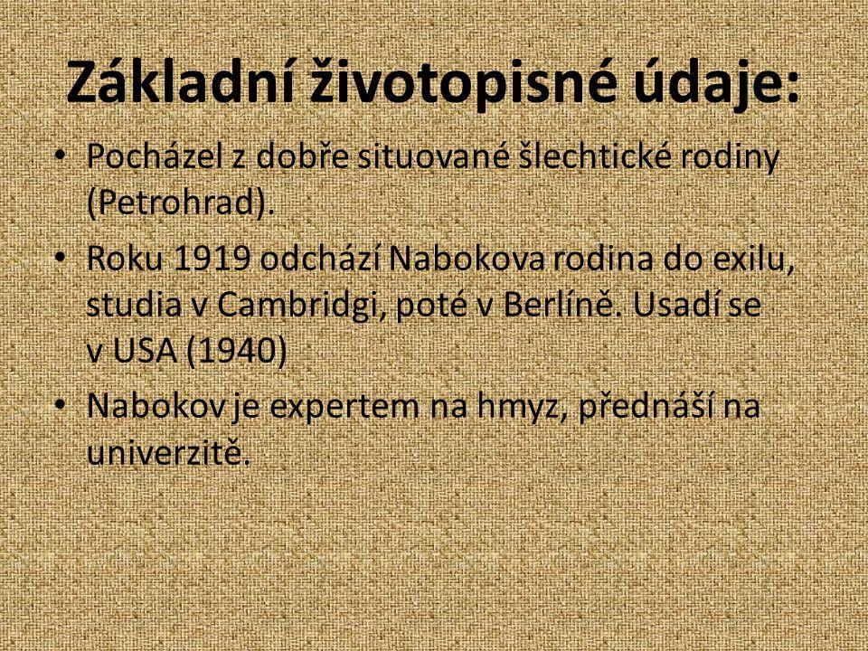 Základní životopisné údaje: Pocházel z dobře situované šlechtické rodiny (Petrohrad).