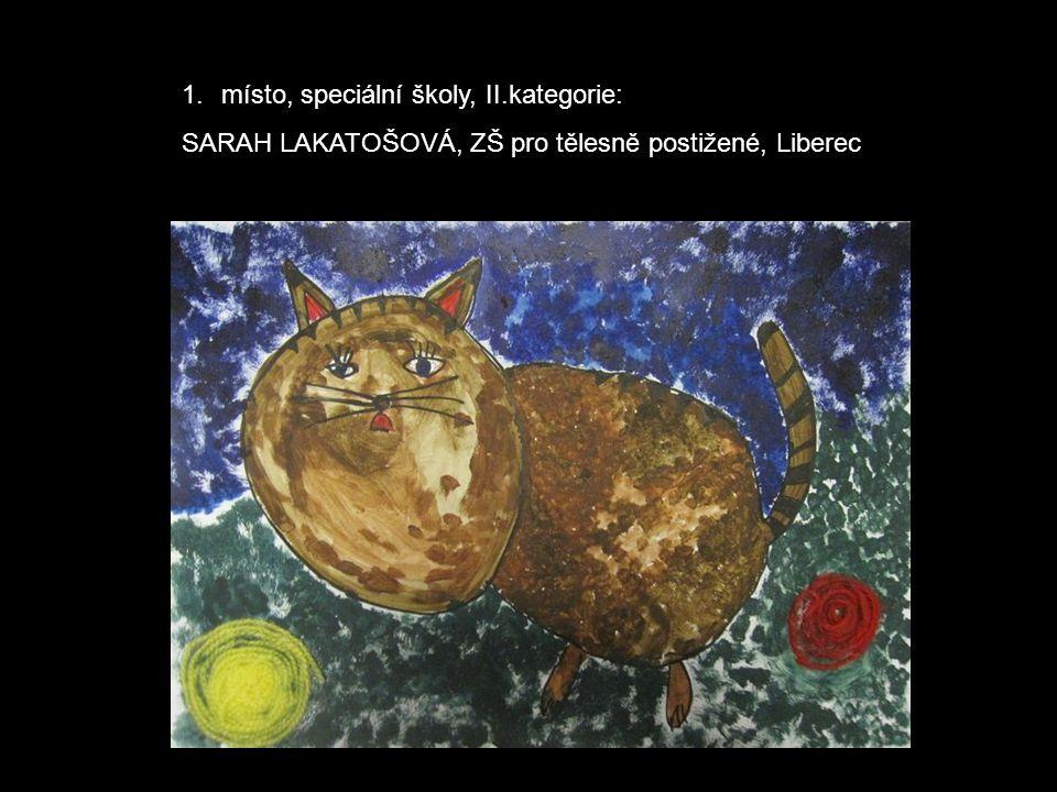 1.místo, speciální školy, II.kategorie: SARAH LAKATOŠOVÁ, ZŠ pro tělesně postižené, Liberec