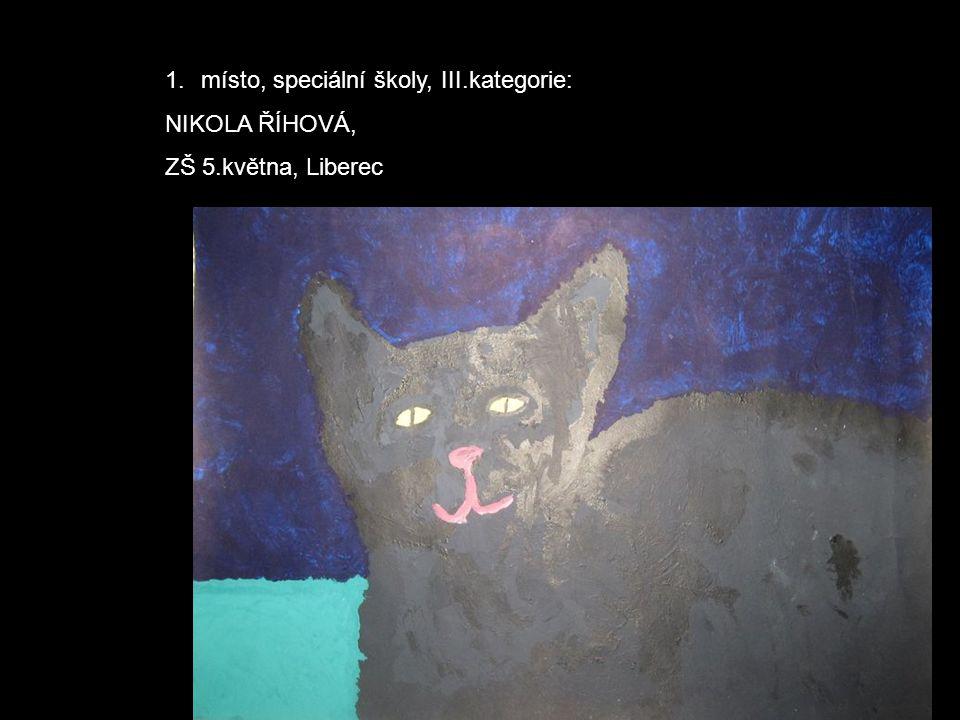 1.místo, speciální školy, III.kategorie: NIKOLA ŘÍHOVÁ, ZŠ 5.května, Liberec