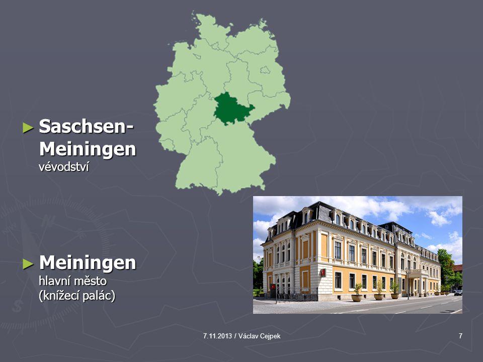 7.11.2013 / Václav Cejpek7 ► Saschsen- Meiningen vévodství ► Meiningen hlavní město (knížecí palác)