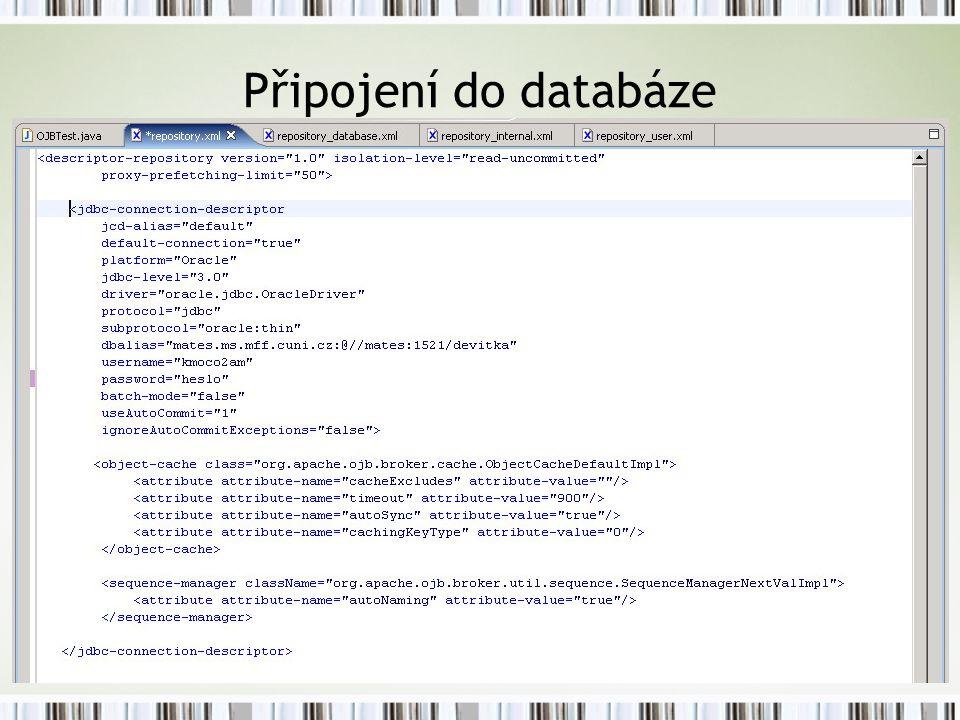 Připojení do databáze