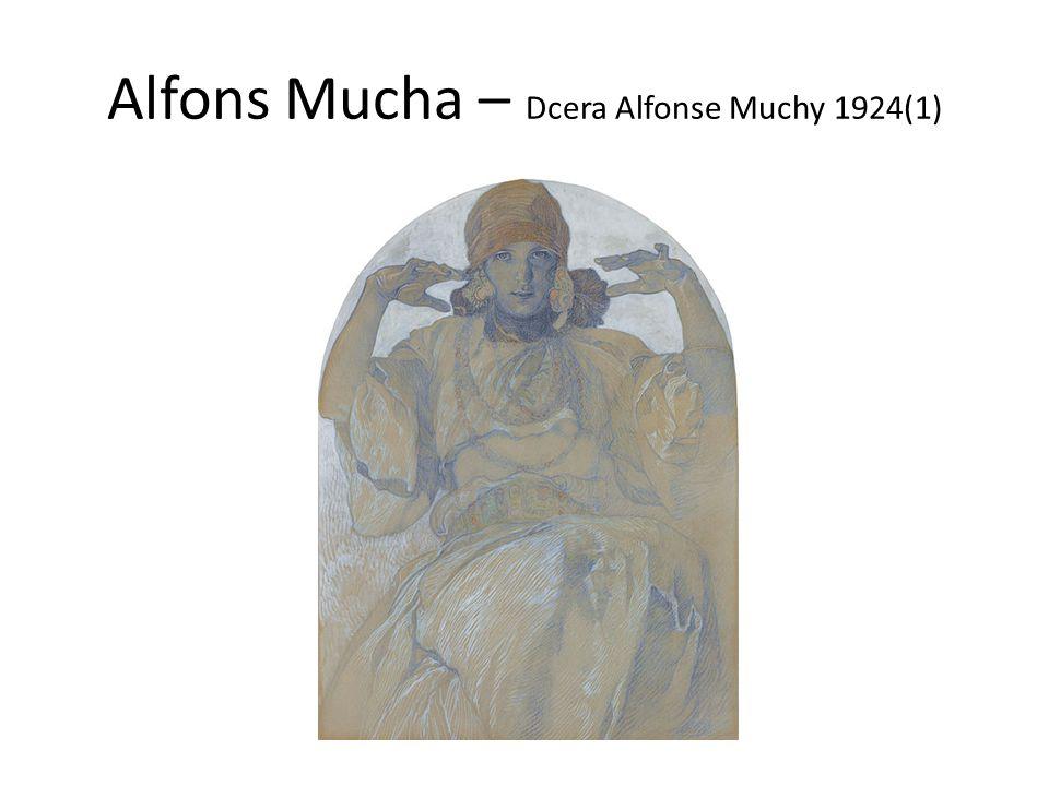 Alfons Mucha – Dcera Alfonse Muchy 1924(1)