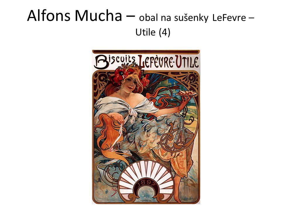 Alfons Mucha – obal na sušenky LeFevre – Utile (4)
