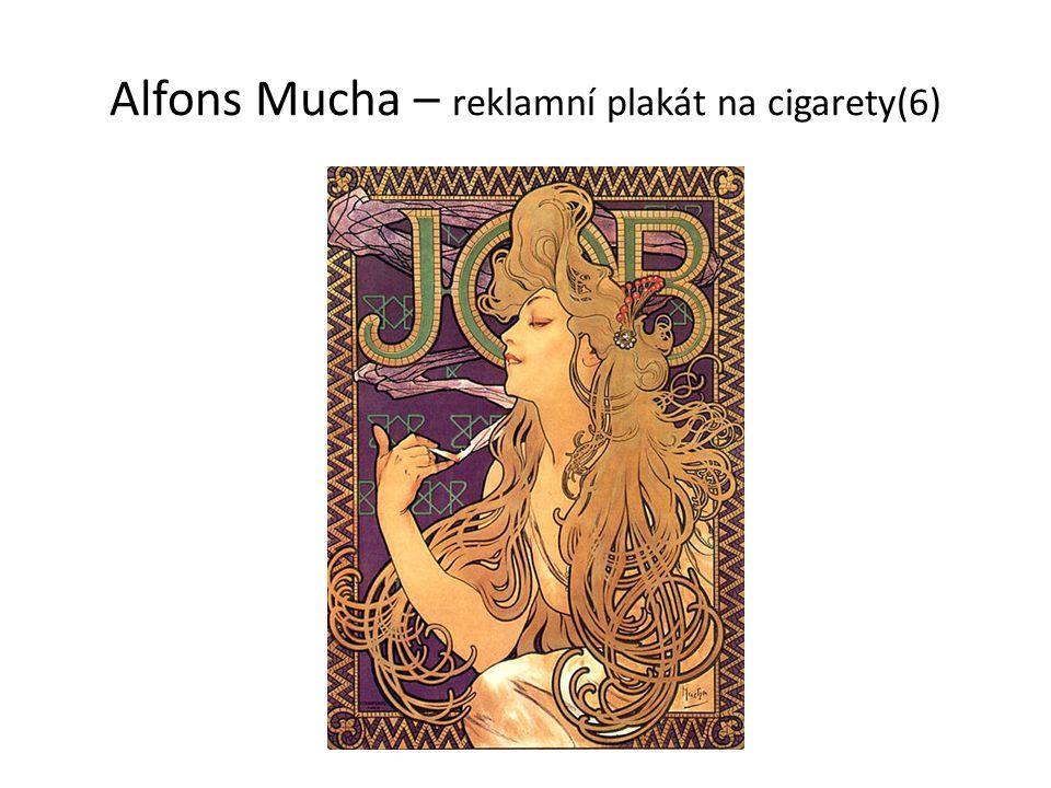 Alfons Mucha – reklamní plakát na cigarety(6)