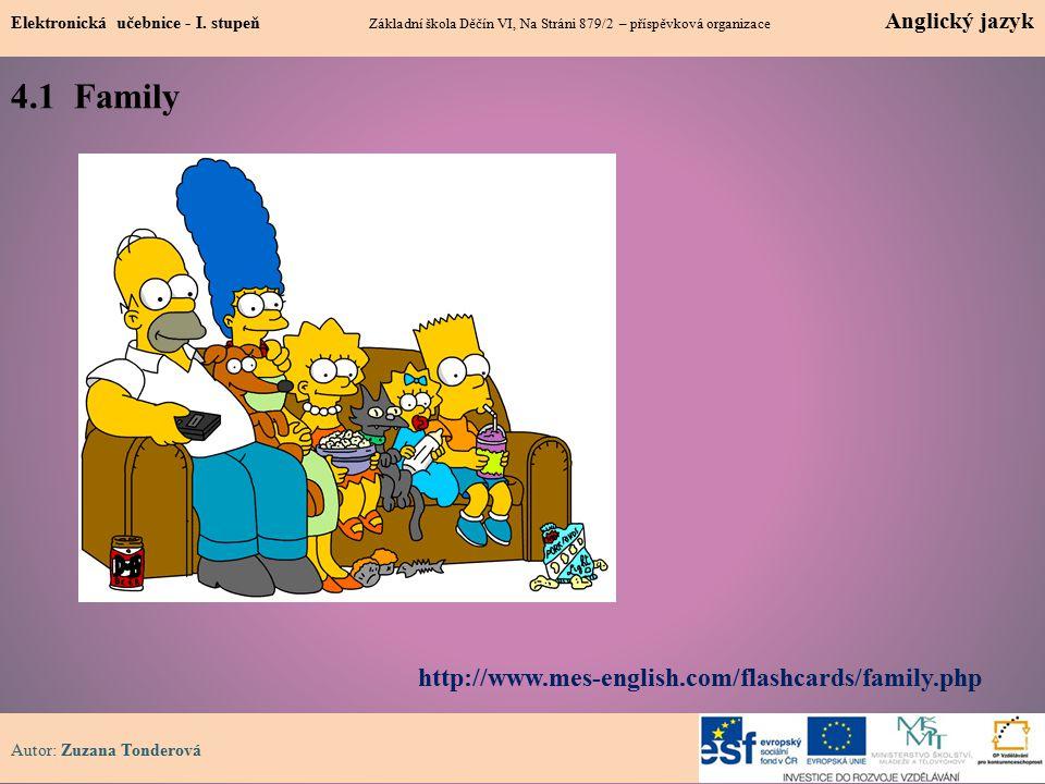 4.1 Family 1 Elektronická učebnice - I.