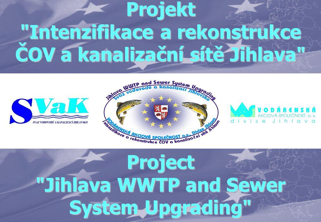 Organizace Projektu Project organization Investor Svaz vodovodů a kanalizací Jihlavsko Projektant Designer HYDROPROJEKT CZ a.s.