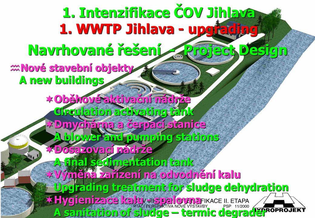 hNové stavební objekty A new buildings  Oběhové aktivační nádrže Circulation activating tank Circulation activating tank  Dmychárna a čerpací stanic