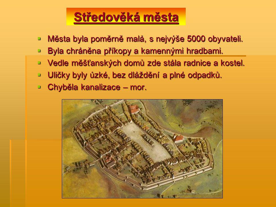  Města byla poměrně malá, s nejvýše 5000 obyvateli.  Byla chráněna příkopy a kamennými hradbami.  Vedle měšťanských domů zde stála radnice a kostel