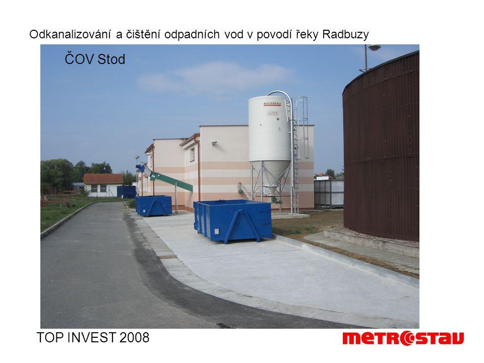Odkanalizování a čištění odpadních vod v povodí řeky Radbuzy TOP INVEST 2008 ČOV Stod