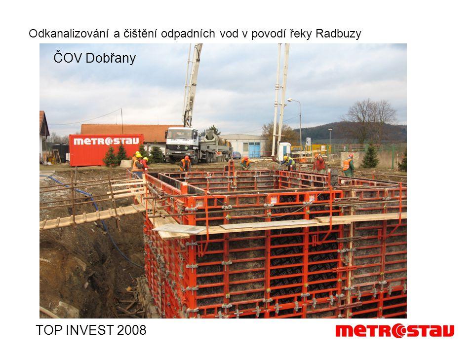 Odkanalizování a čištění odpadních vod v povodí řeky Radbuzy TOP INVEST 2008 ČOV Dobřany