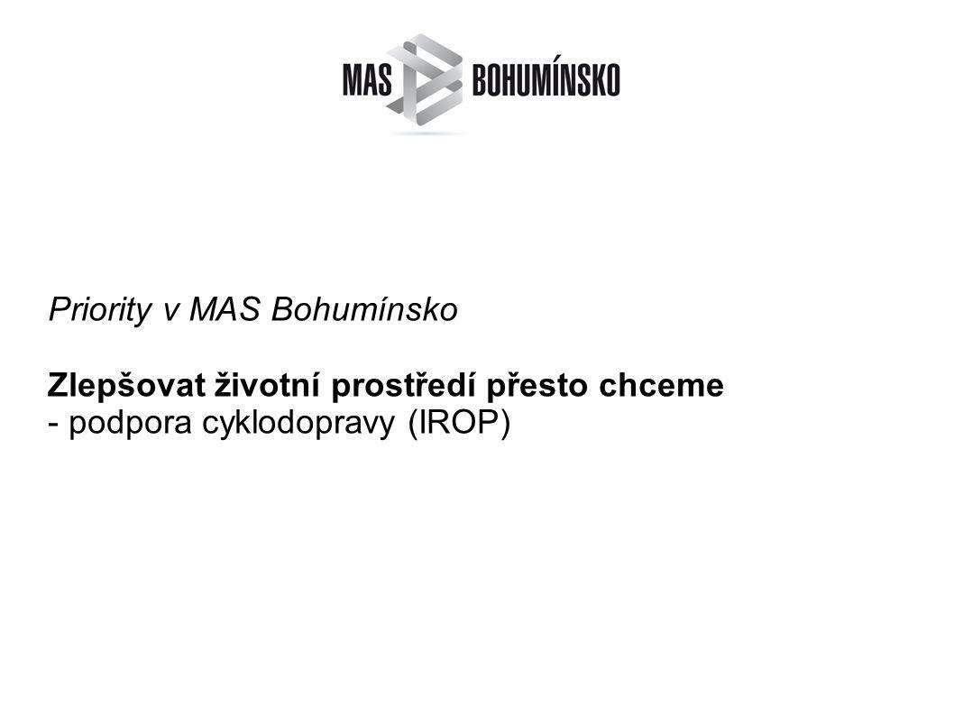 Priority v MAS Bohumínsko Zlepšovat životní prostředí přesto chceme - podpora cyklodopravy (IROP)