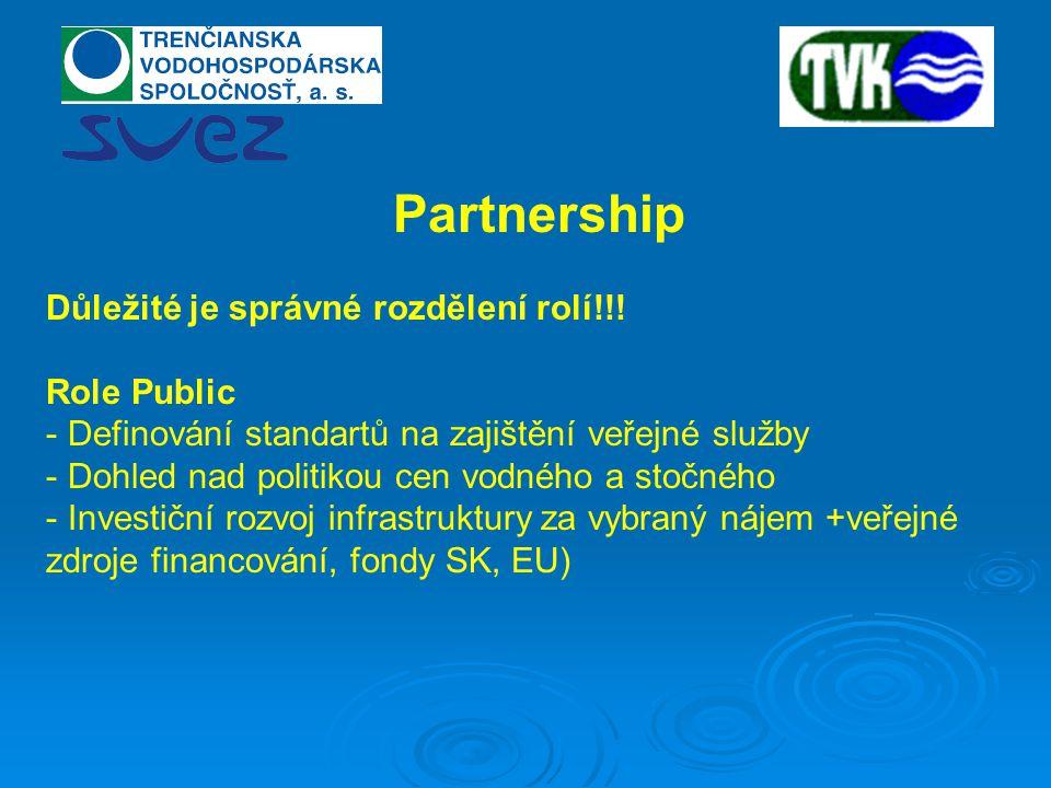 Partnership Důležité je správné rozdělení rolí!!.