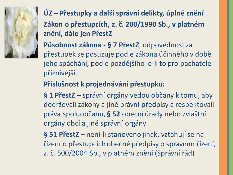 ÚZ – Přestupky a další správní delikty, úplné znění Zákon o přestupcích, z.