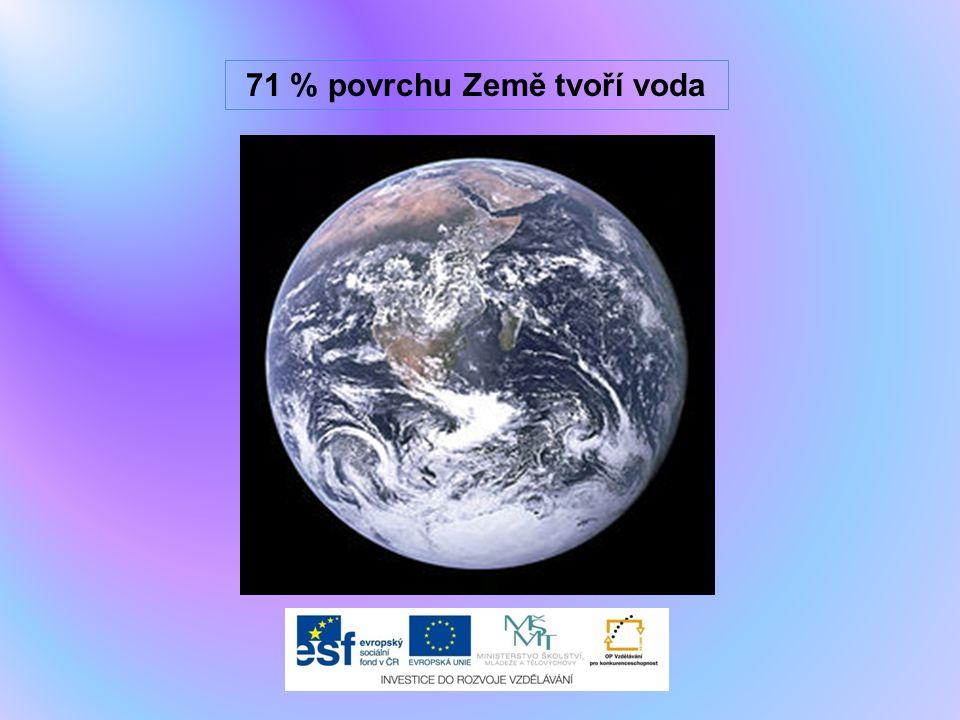 71 % povrchu Země tvoří voda