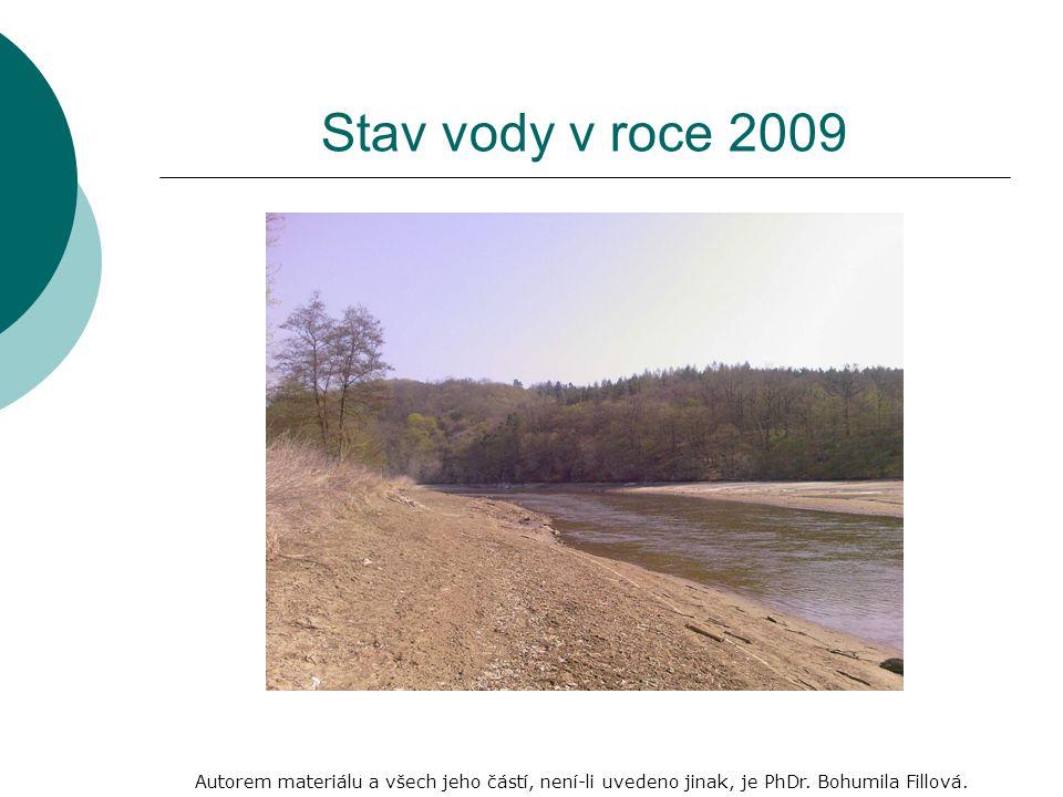 Stav vody v roce 2009 Autorem materiálu a všech jeho částí, není-li uvedeno jinak, je PhDr.