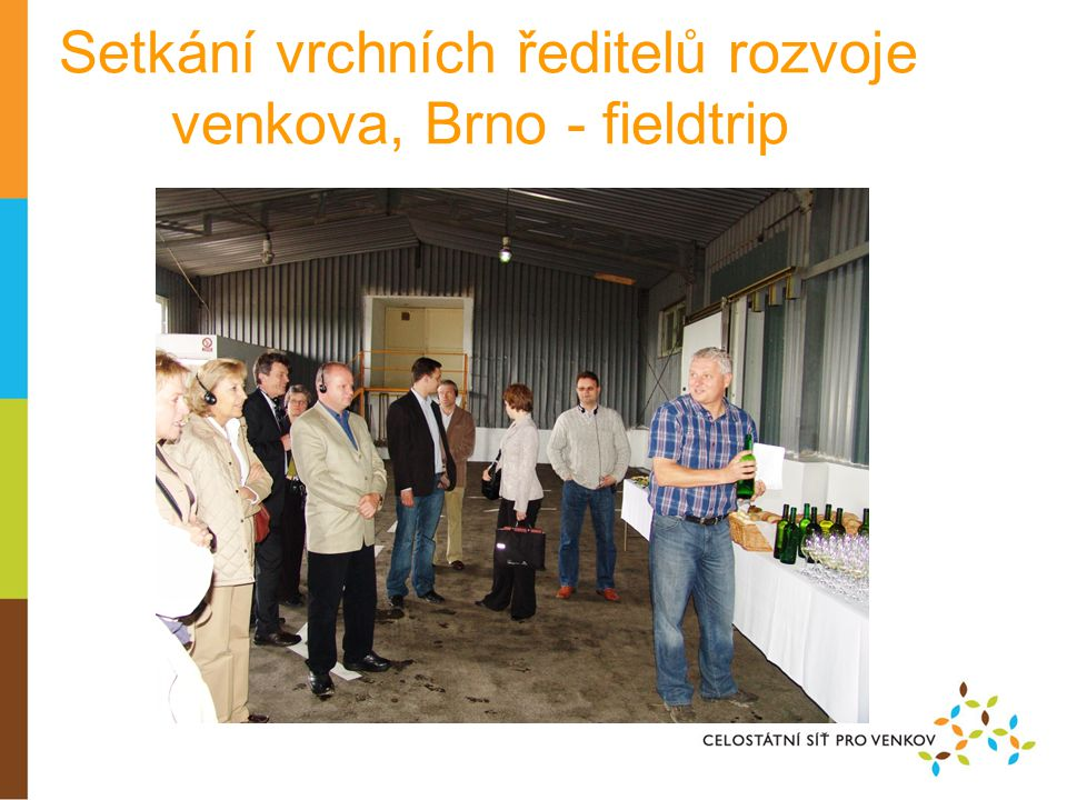 Setkání vrchních ředitelů rozvoje venkova, Brno - fieldtrip